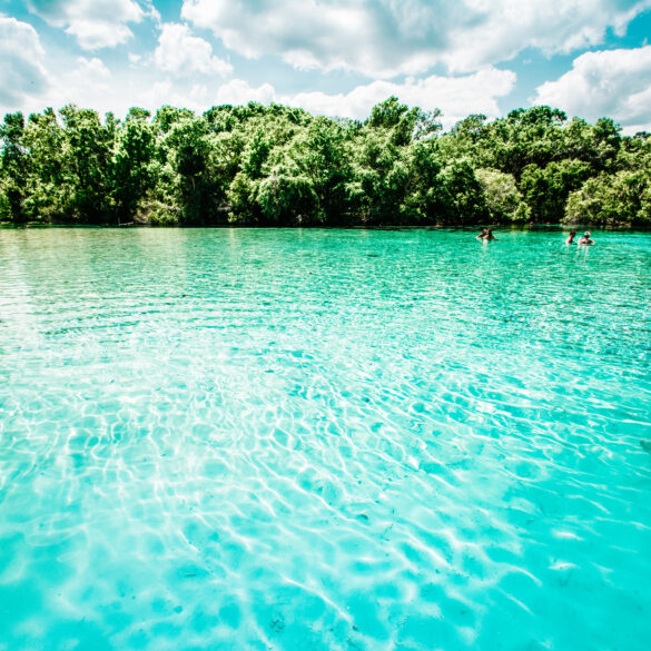 The blue waters of the springs will put you in a tranquil state of mind on your vacation