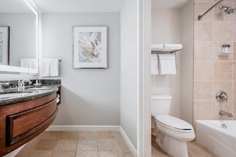 Clean and elegant bathrooms