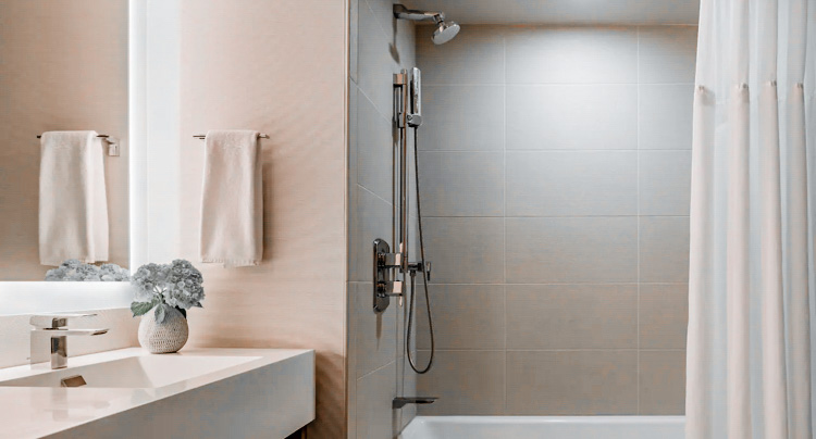 Modern bathrooms are inviting yet clean in design