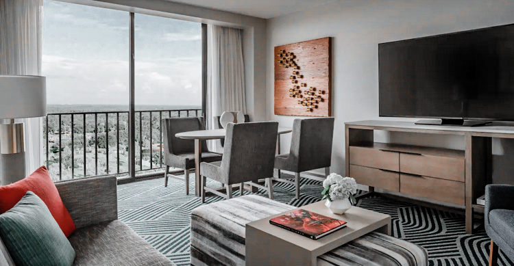 The views of the room add to the extra details of grandeur