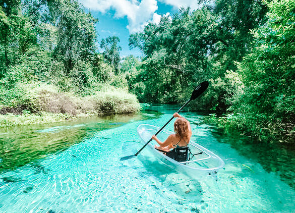 If you want an adventure, rent a kayak and really explore all of the springs has to offer