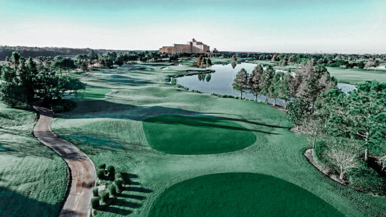 The golf course here is a fun beautiful challenge