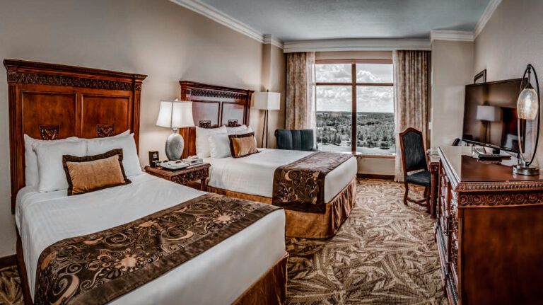 The rooms at Rosen Shingle Creek are appointed in all the comforts for a great 50th anniversary of Disney vacation