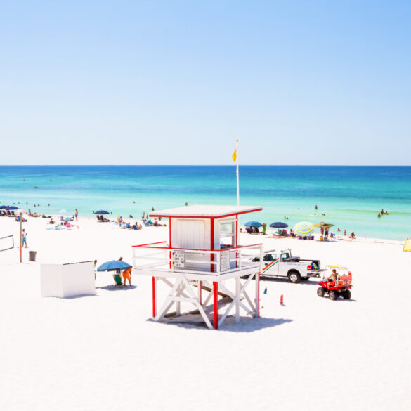 White sandy beaches of Florida are always inviting
