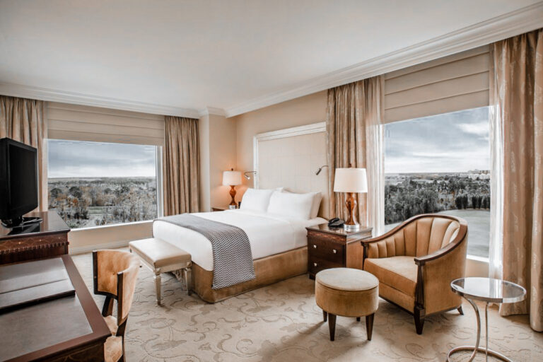 The rooms are polished and collective in detail and style