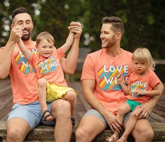 LGBT Family celebrating Pride