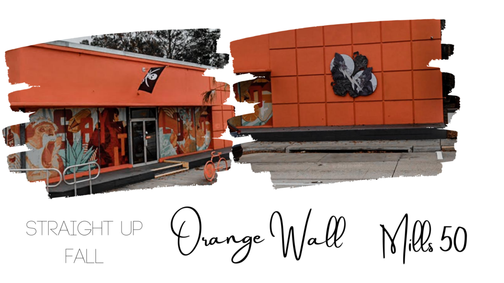The famous Orange Wall in Mills 50 District
