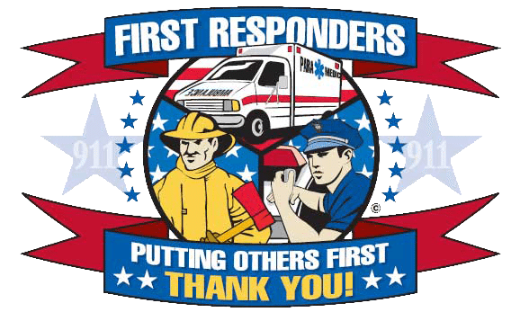 First Responders Putting Others First Thank You logo
